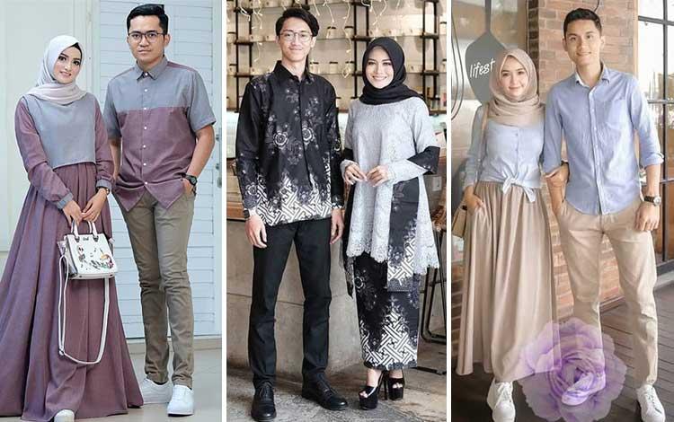 20 Inspirasi Baju Couple Muslim Yang Serasi Abis. Bisa Untuk Lebaran Juga Lho!