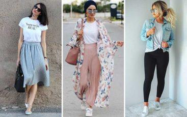 Inspirasi outfit dengan kaos putih wanita
