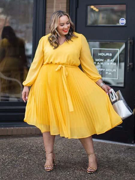 OOTD rok plisket untuk wanita gemuk