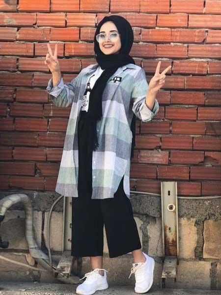 Outer hijab kemeja