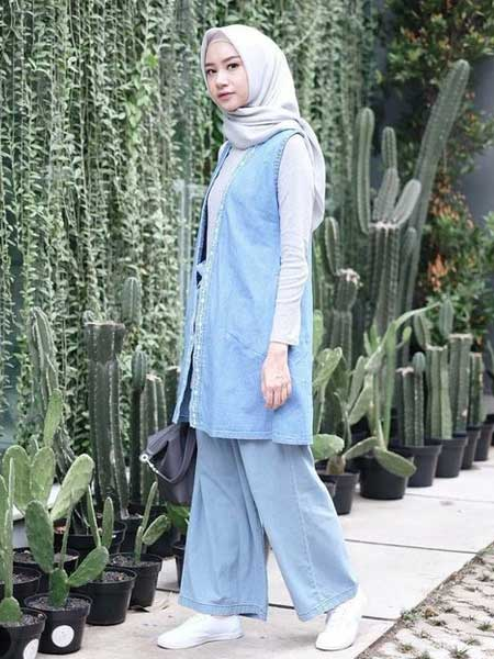 Outer hijab long vest