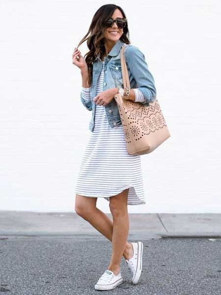 Outfit dress casual wanita