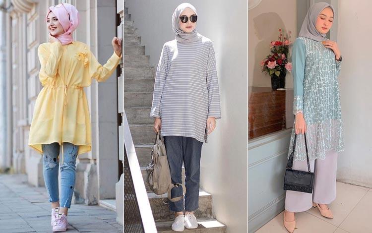 27 Model Tunik Terbaru 2020 Untuk Hijaber Agar Tampil Modis