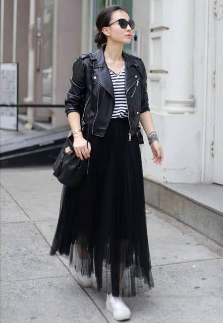 OOTD rok tutu hitam panjang