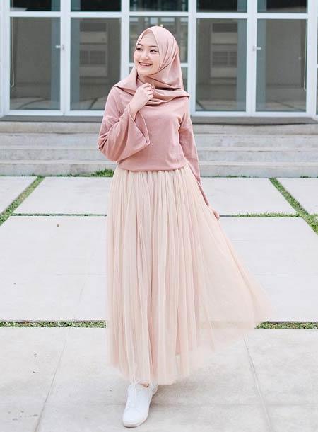 OOTD rok tutu hijab