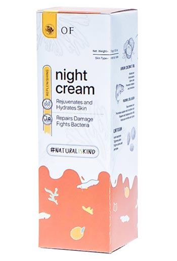 Krim malam untuk kulit berminyak