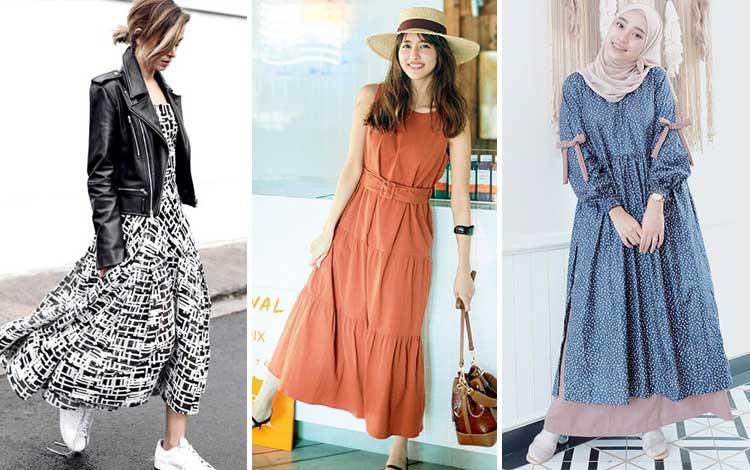 22 Inspirasi Outfit Long Dress Agar Tampil Feminin dan Trendi