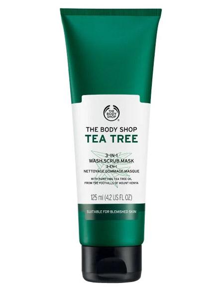 The Body Shop Tea Tree 3 In 1 Wash Scrub Mask