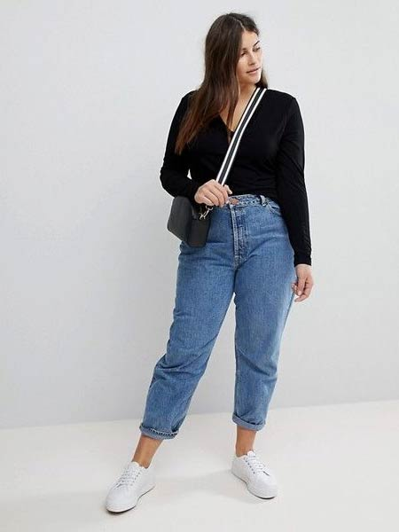 Celana jeans pensil wanita