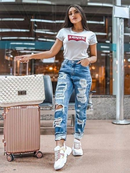 Celana ripped jeans wanita