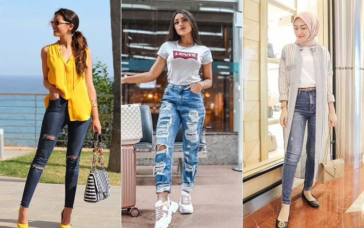 Mix and Match Celana Jeans Wanita