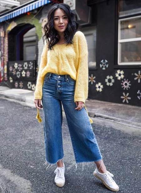 Celana kulot jeans wanita