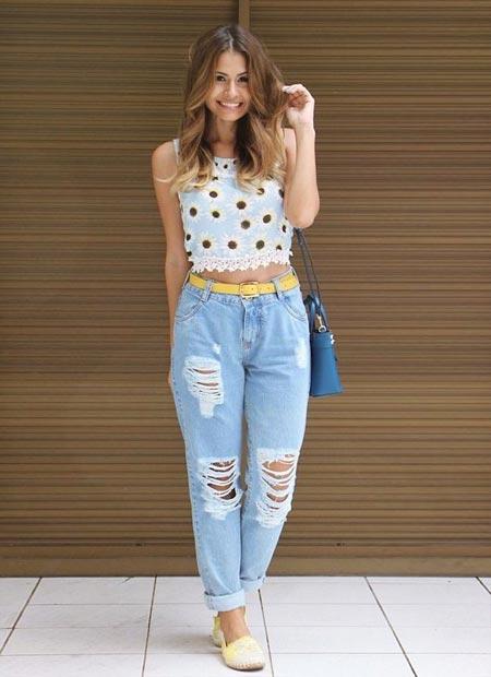 Outfit dengan celana baggy pants