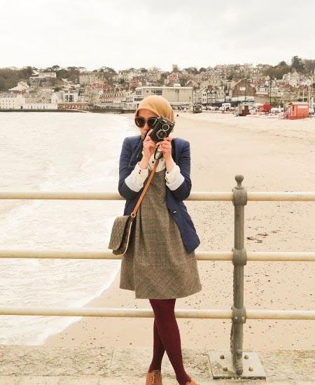 OOTD vintage hijab