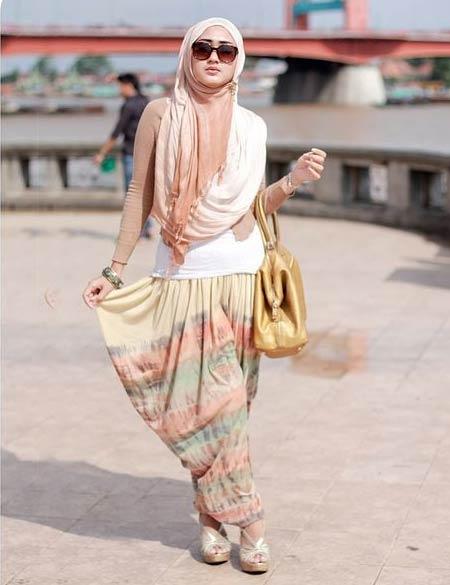 Tie dye hijab terbaru