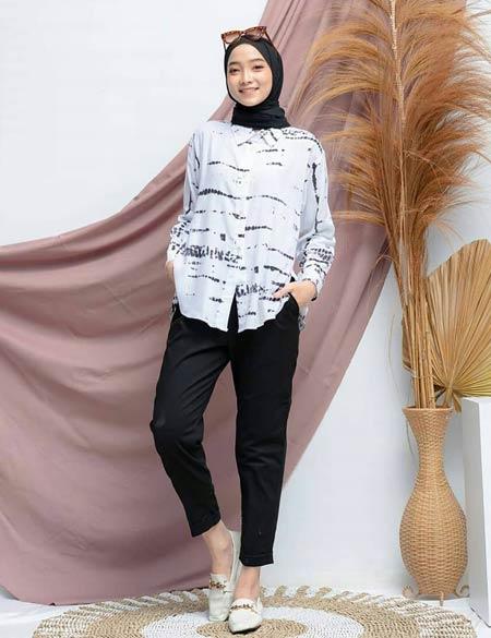 Tie dye hijab kekinian