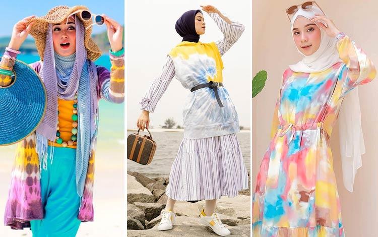 24 Style Tie Dye Hijab Kekinian yang Bisa Kamu Coba