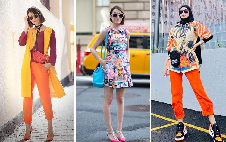 21 Inspirasi Padu Padan Colorful Outfit Yang Bisa Kamu Coba