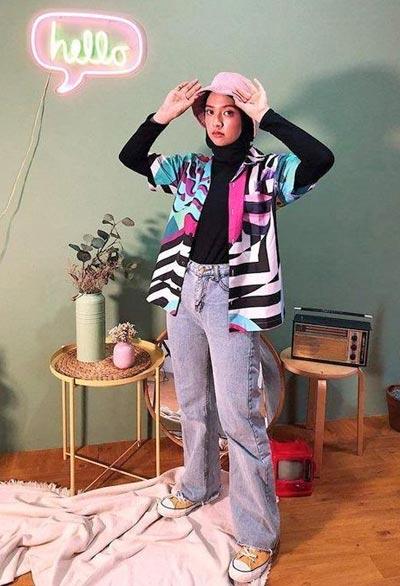OOTD colorful hijab