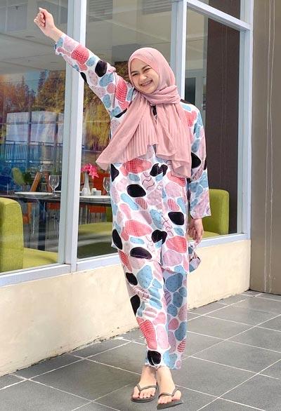 OOTD hijab plisket