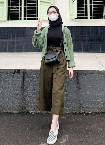 Outfit Outer Rajut Kekinian