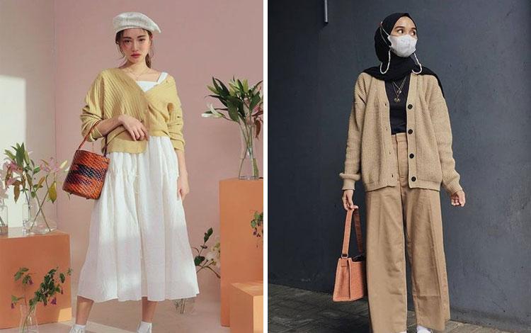 Inspirasi Outfit Outer Rajut Kekinian Agar Penampilanmu Makin Kece