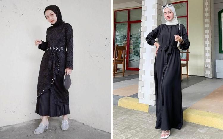 18 Inspirasi OOTD Dress Hitam Hijab untuk Berbagai Acara